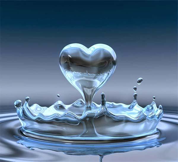 Enviar amor incondicional al agua