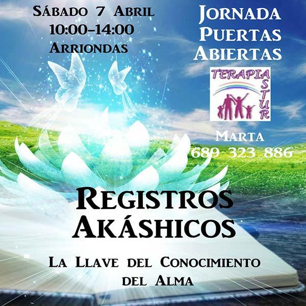 Puertas Abiertas Lectura Registros Akáshicos el 7 de Abril en Terapiastur - Arriondas